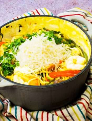 Creamy - One Pot - Prawn and Veggie Pasta - recipe - slimming world