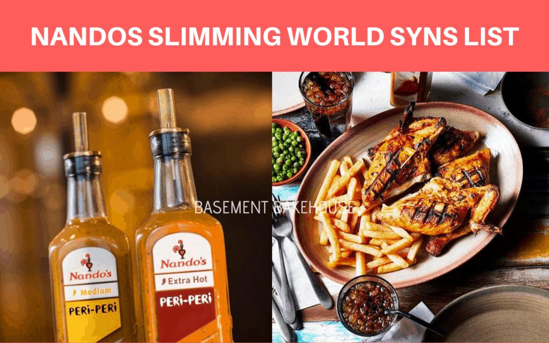 Nandos Slimming World Syns