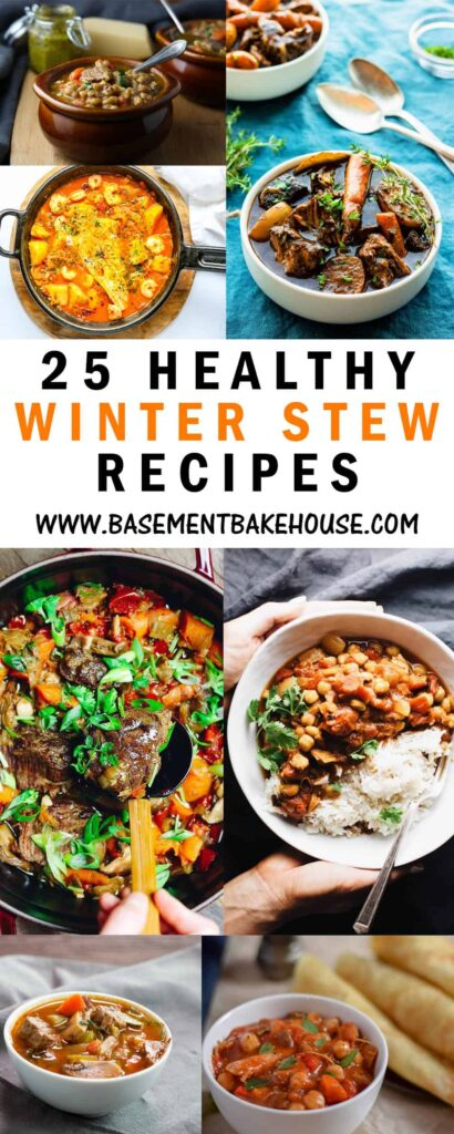 25 of the best Healthy Winter Stew recipes from around the web, perfect for meal prep or delicious family dinner recipe inspiration. Plus tips on how to adapt any stew recipe to make it syn free or low syn on Slimming World! If you're looking for healthy winter dinner recipe ideas then look no further. Mix of vegan, vegetarian, meat based and fish recipes.