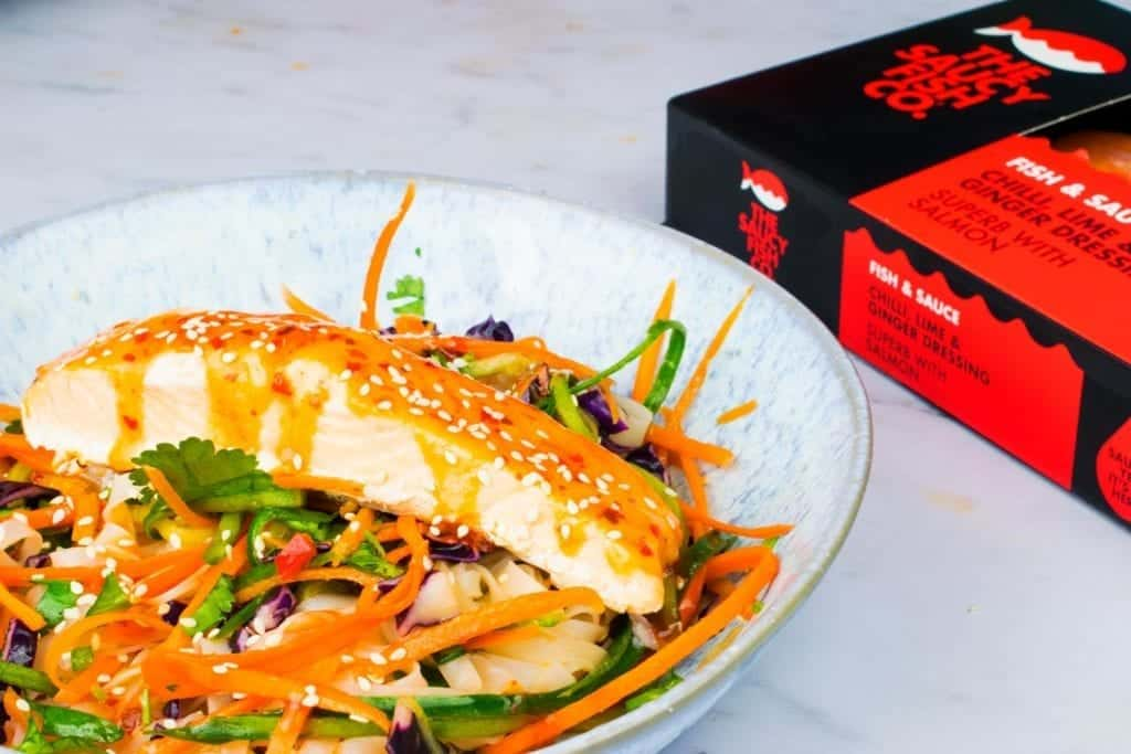 Thai Noodle Salad - Chilli & Lime Salmon - The Saucy Fish Co - review - healthy - slimming world - salad