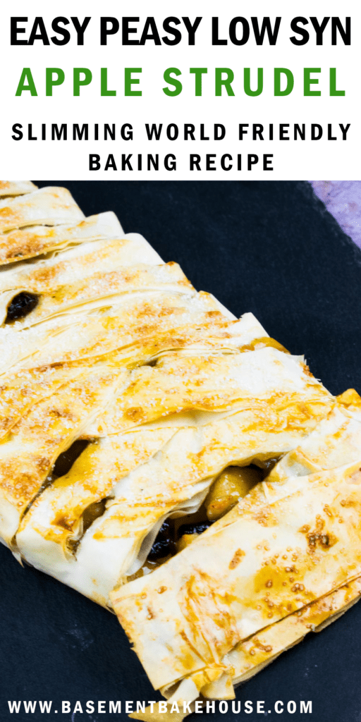 This LOW SYN APPLE STRUDEL recipe is just 2 syns per slice. It's the perfect Slimming World Christmas recipe. If you love Slimming World puddings and baking then you'll love this.