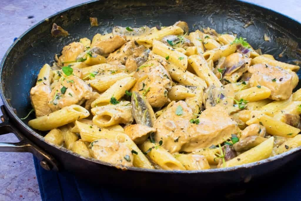 One Syn Chicken & Mushroom Pasta Slimming World Recipe