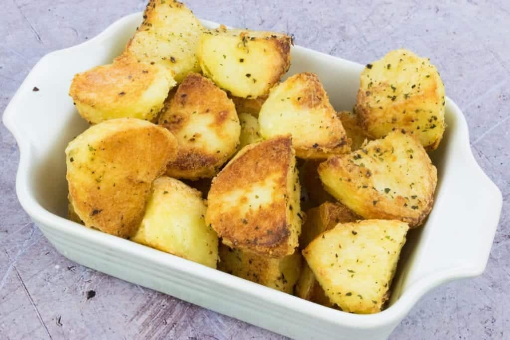 How to make roast potatoes with spray oil