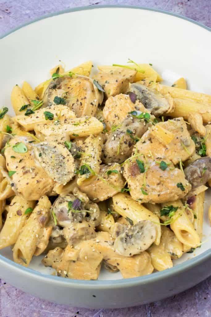One Syn Chicken & Mushroom Pasta Slimming World Recipe