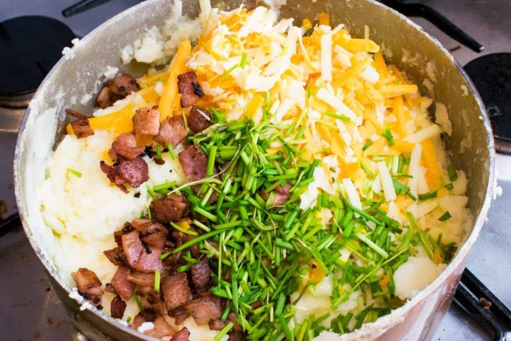 Syn Free Loaded Mashed Potato Slimming World Recipe - step by step image