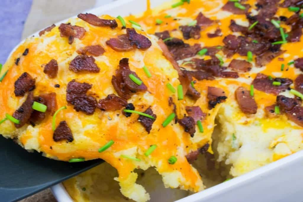 Syn Free Loaded Mashed Potato Slimming World Recipe - finished recipe image