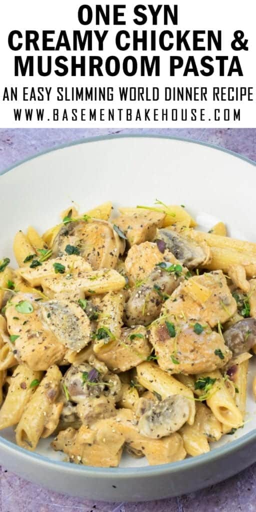 This super low syn Creamy Chicken & Mushroom Pasta recipe is a firm favourite in my house. It's the perfect Slimming World friendly family dinner recipe to satisfy your carb cravings and it's packed with speed food and tonnes of flavour. It's an easy recipe that everyone will love!